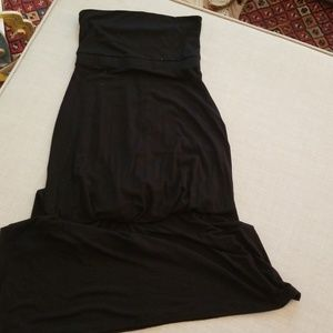 Black Old Navy strapless maxi, Small, GUC
